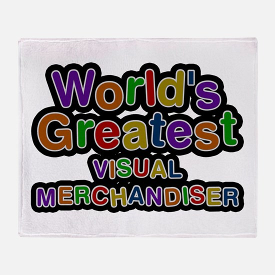 World's Greatest VISUAL MERCHANDISER Throw Blanket