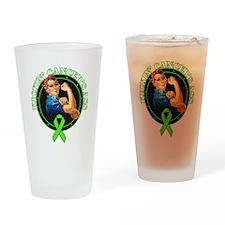 Kickin' Lymphoma Cancer's Ass Drinking Glass