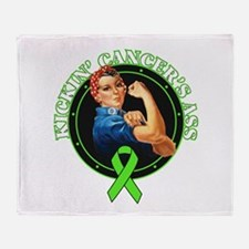 Kickin' Lymphoma Cancer's Ass Throw Blanket