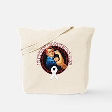 Kickin' Lung Cancer's Ass Tote Bag