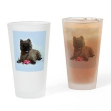 Cairn Terrier with Rat Drinking Glass