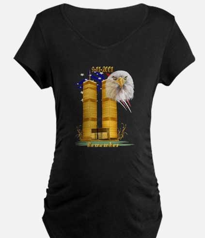 Gold Twin Towers, Eagle n Fla T-Shirt