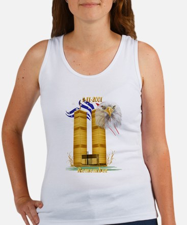 Gold Twin Towers, Eagle n Fla Women's Tank Top