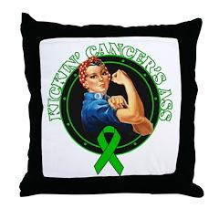 Kickin' Kidney Cancer's Ass Throw Pillow