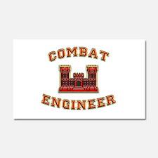 US Army Combat Engineer Castl Car Magnet 20 x 12