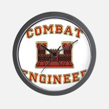 US Army Combat Engineer Castl Wall Clock