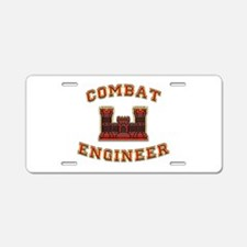 US Army Combat Engineer Castl Aluminum License Pla