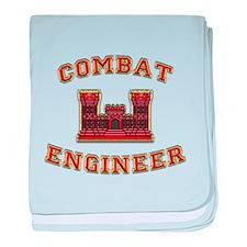 US Army Combat Engineer Castl baby blanket