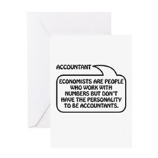 Accountant Bubble 1 Greeting Card