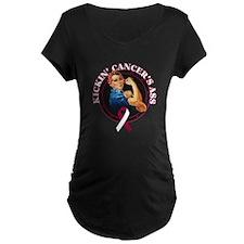 Kickin Head Neck Cancer Ass T-Shirt