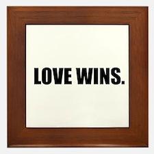 Cute Love Framed Tile