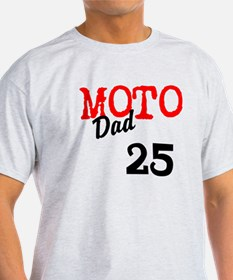 moto dad T-Shirt add race number