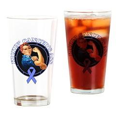 Kickin Esophageal Cancer Ass Drinking Glass