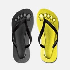 Black and Yellow Water Feet Flip Flops