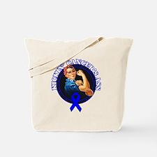 Kickin' Colon Cancer's Ass Tote Bag
