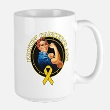 Kickin Childhood Cancer Ass Mug