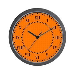 Orange Satin Look Wall Clock