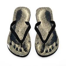 Footprints In The Sand Flip Flops