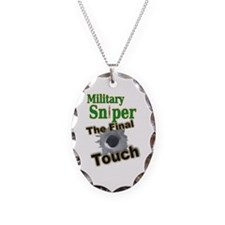Sniper Necklace Oval Charm