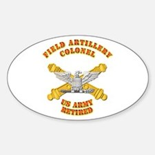 Artillery - Officer - COL - Retired Decal