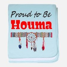 Proud to be Houma baby blanket