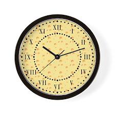 Dark Yellow Cheese Roman Digit Wall Clock