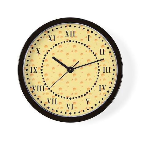 dark yellow cheese roman digit wall clock by symmetricarts