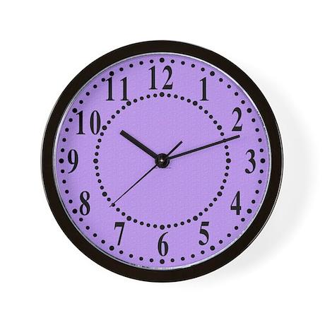 Lavender Satin Look Wall Clock