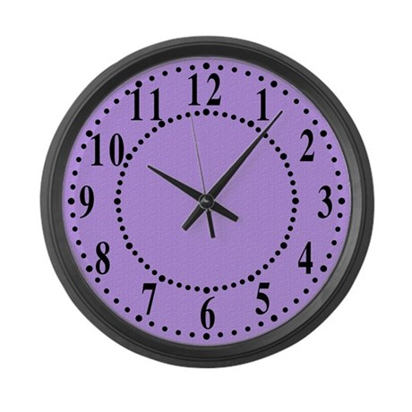 Lavender Satin Look Large Wall Clock