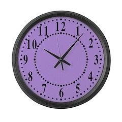 Lavender Satin Look Large Wall Clock