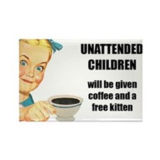 Unattended Children Rectangle Magnet
