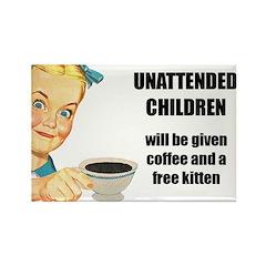 Unattended Children Rectangle Magnet