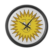 Happy Sun in Summer Large Wall Clock