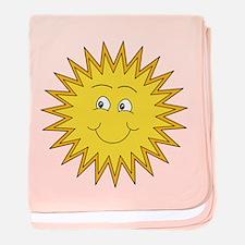 Happy Sun in Summer baby blanket