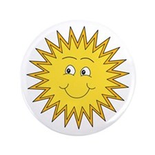"""Happy Sun in Summer 3.5"""" Button (100 pack)"""