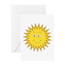 Happy Sun in Summer Greeting Card