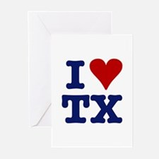 I LOVE TX Greeting Cards (Pk of 10)