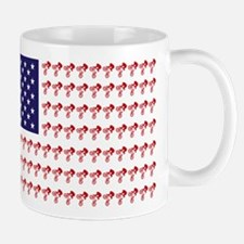 American Flag made of BMX Bicycles Mug