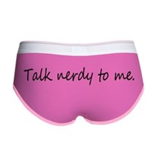 Talk Nerdy to me Women's Boy Brief