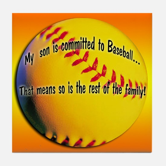 Baseball Parent Tile Coaster