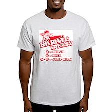 Karate is Easy Ash Grey T-Shirt