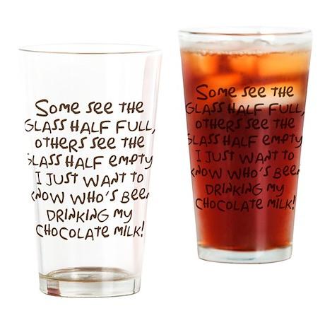 Chocolate Milk Drinking Glass