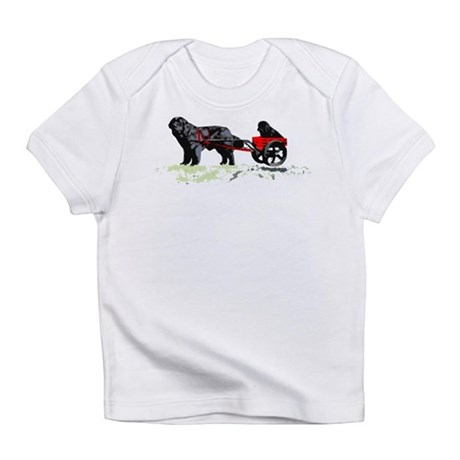Puppy in Draft Cart Infant T-Shirt
