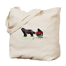 Puppy in Draft Cart Tote Bag