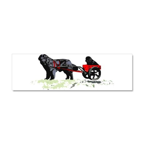 Puppy in Draft Cart Car Magnet 10 x 3