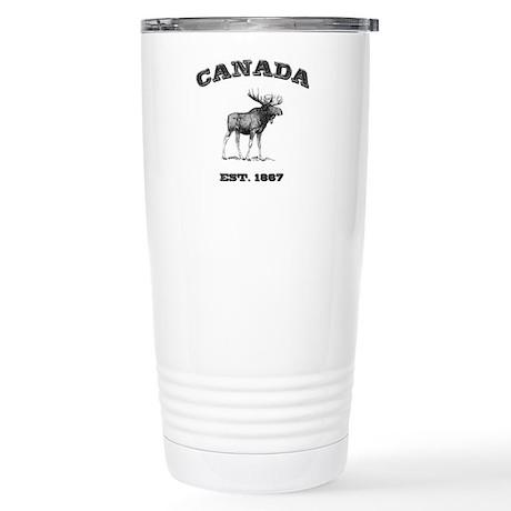 Canadian Moose Stainless Steel Travel Mug