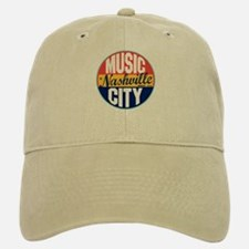 Nashville Vintage Label Baseball Baseball Cap