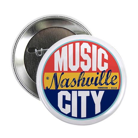 "Nashville Vintage Label 2.25"" Button"