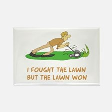 The Lawn Won Rectangle Magnet