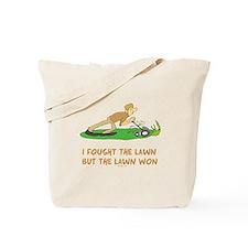The Lawn Won Tote Bag